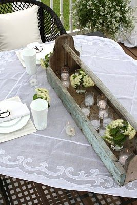 Pretties and Posies: sweet porch summer tablescape!