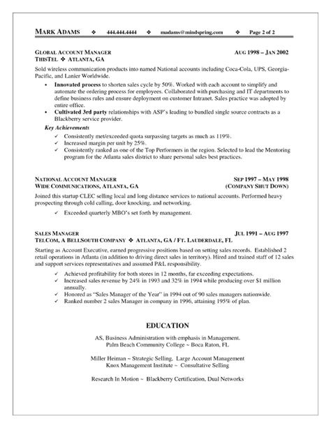 Example Accounting Manager Resume -    wwwresumecareerinfo - resume for sales manager