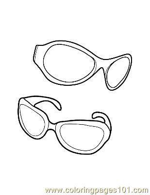Sun Glasses Coloring Page Sun Glasses Coloring Page Free Clothes Coloring Pages In 2020 Coloring Pages Easy Coloring Pages Horse Coloring Pages