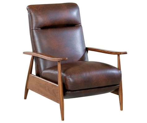 Peter Mid Century Modern Leather Recliner Chair Leather Recliner