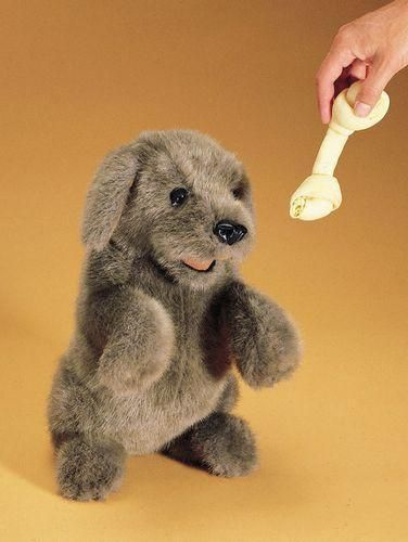 Folkmanis Mini Schnauzer In Bed Finger Puppet Folkmanis Puppets 2717