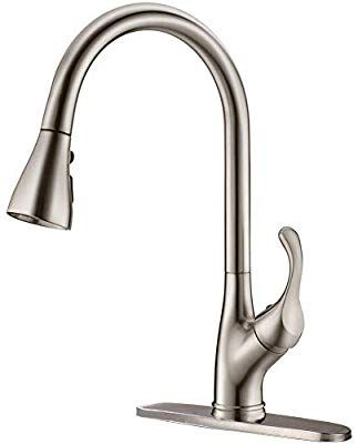 Appaso Pull Down Kitchen Faucet With Sprayer Stainless Steel Brushed Nickel Single Handle Commercial Kitchen Faucet With Sprayer Kitchen Faucet Sink Faucets Cheap kitchen faucets with sprayer