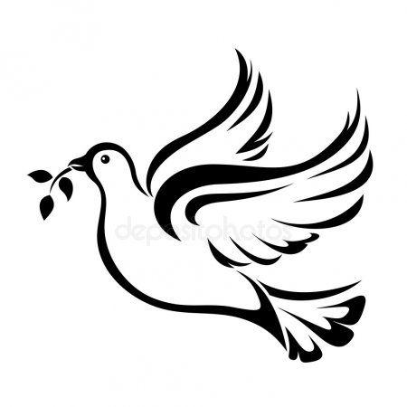 Dove Symbol Of Peace Vector Black Silhouette Stock Vector Sponsored Peace Symbol Dove Vector Ad Dove Drawing Black Silhouette Dove And Olive