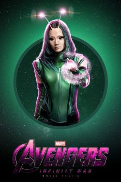 r : 11 x 17 inches The Avengers Infinity War movie poster Mantis