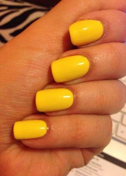35+ Ideas Nails Acrylic Yellow Short