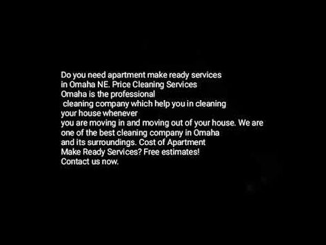 Professional Apartment Make Ready Services In Omaha Ne