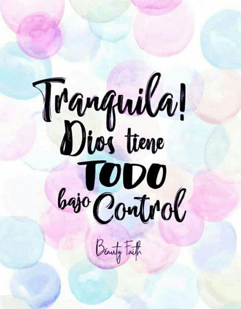 Dios siempre tiene el control, obliga a tu ansiedad a créelo y verás cómo todo mejora 🙏🏻🙌🏻💕