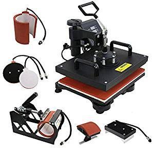 Amazon Com F2c Pro 5 In 1 Combo Heat Press Machine T Shirt Hat Cap Mug Plate Digital Transfer Sublimatio Best Heat Press Machine Heat Press Machine Heat Press