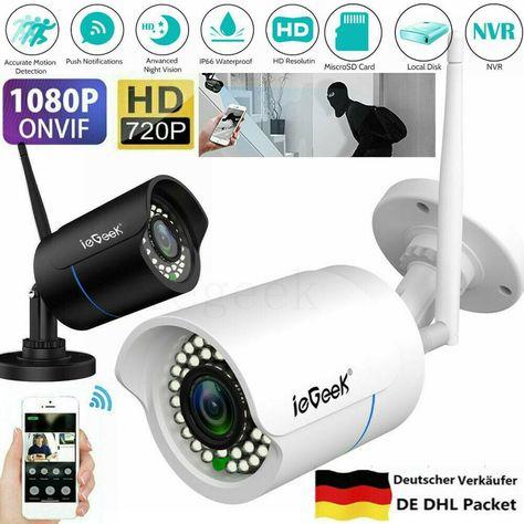 Funk 720P IP Kamera CCTV Netzwerk Cam WLAN Überwachungskamera Video Überwachung