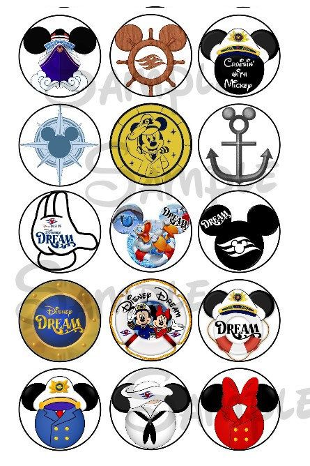 Various Dream DCL inspired DIGITAL Bottle Cap by SwirlyColorPixels