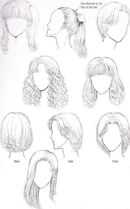 53 Ideas Hair Drawing Simple Easy Easy Hair Drawings How To Draw Hair Hair Sketch