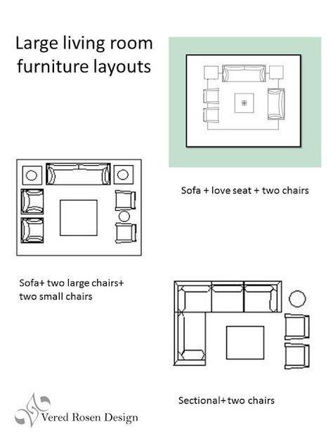 Vered Rosen Design: Living room seating arrangements -furniture layout  ideas | House ideas | Pinterest | Furniture layout, Living rooms and Room