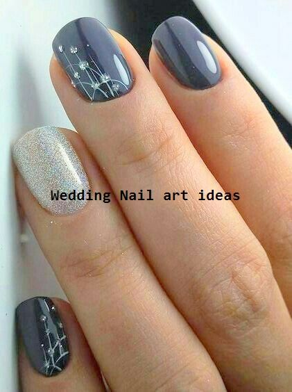 35 Simple Ideas For Wedding Nails Design 135 Simple Ideas For Wedding Nails Design 1 Wedding Nail In 2020 Bridal Nail Art Fall Nail Art Designs Simple Nail Designs