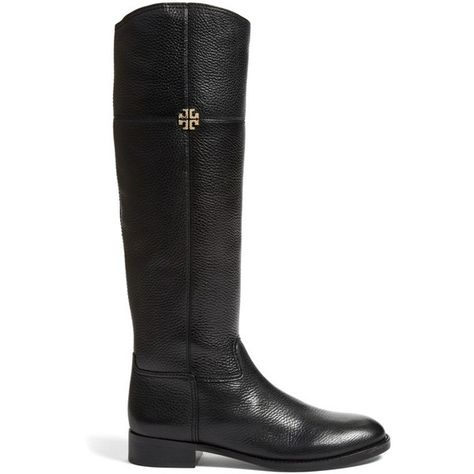 58a396becea Women s Tory Burch  Jolie  Riding Boot ( 330) ❤ liked on Polyvore featuring  shoes