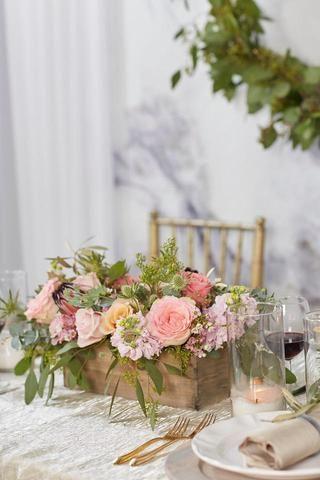 Centerpiece Wood Box Large Flower Centerpieces Pretty Wedding Centerpieces Wedding Table Centerpieces