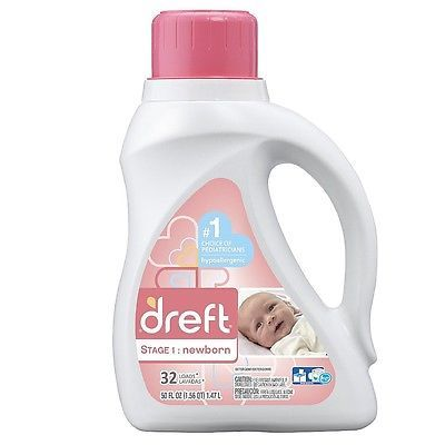 Details About Dreft Stage 1 Newborn Liquid Laundry Detergent 50