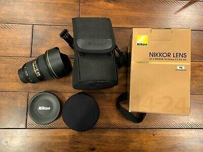 Ad Nikon Af S Nikkor 14 24mm F2 8g Ed Lens Mint In 2020 Lens Nikon 24mm
