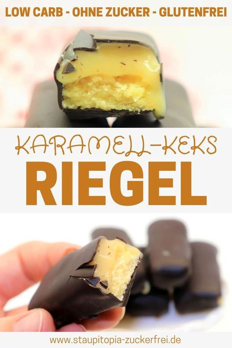 Photo of Low Carb Karamell Keks Riegel – Staupitopia Zuckerfrei