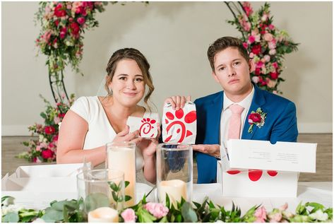 Chick fil a dinner at wedding   Talia Event Center Summer Wedding   Jessie and Dallin Photography #utahwedding #utahweddings #utahweddingvenue #talia #ldswedding #ldstemplewedding #utahbride #utahbrideandgroom #floralinspiration #floralarch #utahweddingvendors #summerwedding #ldsbride