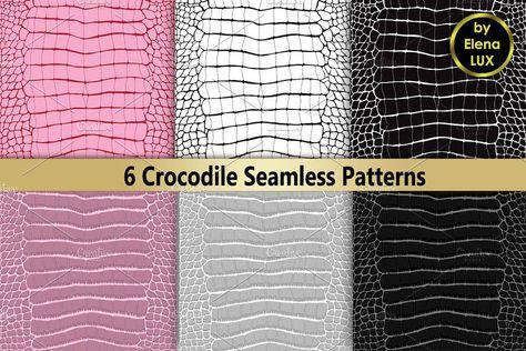 Crocodile Seamless Set