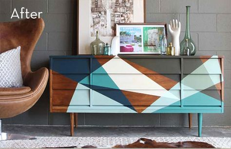 Before and After: A Mid-Century Credenza Gets a Makeover » Curbly | DIY Design Community
