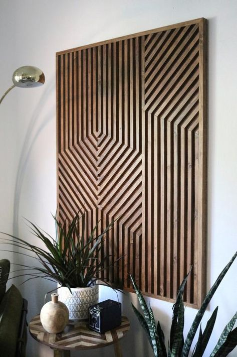 29 Ideas Wood Tile Kitchen Backsplash Oak Cabinets For 2019 Geometric Wall Art Rustic Wall Art Geometric Wall