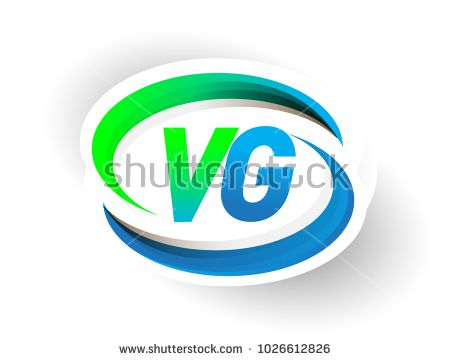 Initial Letter Vg Logotype Company Name Coloured Blue And Green Swoosh Design Modern Logo Concept Vector Logo For Business And Company Identity Desain