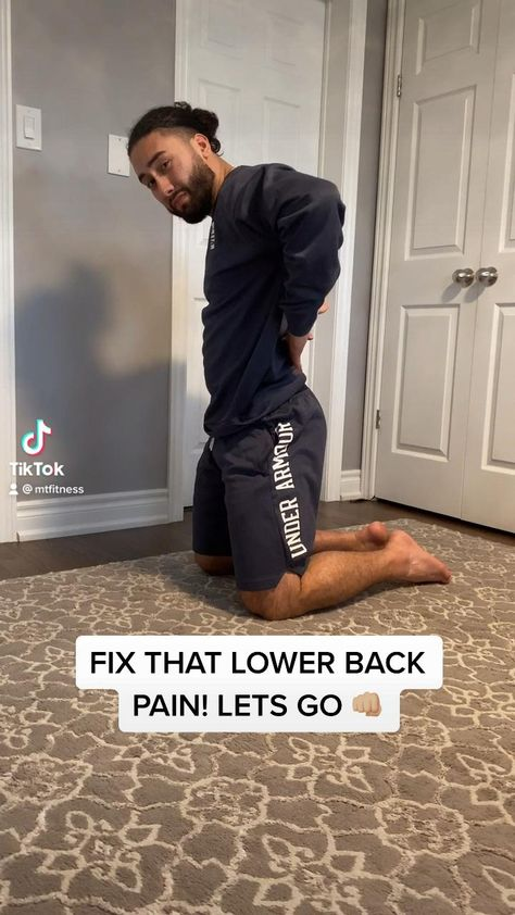 Sitting all day? Try these 5 exercises to fix that lower back pain by strengthening your core, and working on the mobility of your back! #fitness #backpainrelief #lowerbackpain #fitnessmotivation #toronto #trainer #personaltraining #workoutmotivation #workout #workouttips #fitnesslife #mtfit