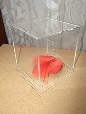 5 Sided Clear Acrylic Perspex Box Cube Display Case With Acrylic Base Lid 150mm X 150mm X 150mm Amazon Co Uk Office Prod Clear Acrylic Perspex Display Case