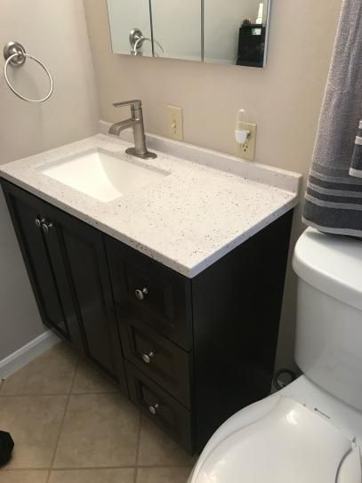 Glacier Bay Northwood 49 In W X 19 In D Vanity In Dusk With Solid Surface Vanity Top In Silver Ash With White Sink White Sink Solid Surface Vanity Top Vanity