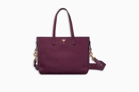 undefined Click here to enlarge the product picture D-BEE SHOPPING BAG IN  AMARANTH-COLOURED GRAINED CALFSKIN be2a36608