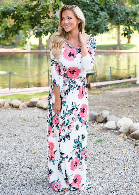 66212c34187f Mommy Ivory Floral Maxi