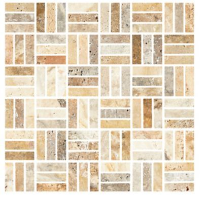 Scabos Triples Travertine Wall And Floor Tile 12 X 12 In In 2020 The Tile Shop Wall And Floor Tiles Tile Floor