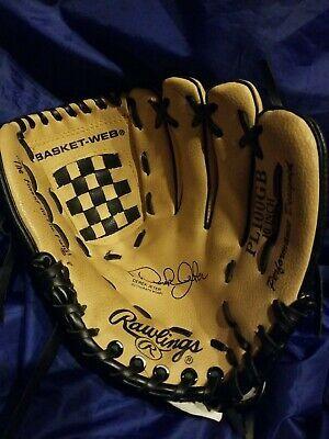 Derek Jeter Rawlings Model Pl100gb 10 Baseball Glove Mitt Rh Throw Leather In 2020 Baseball Glove Rawlings Derek Jeter