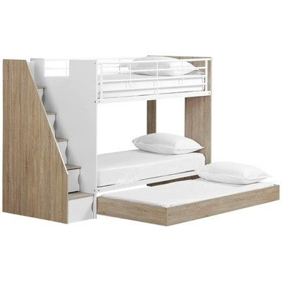 Vic Furniture Cruz Trio Single Bunk Bed Cabinets Reviews
