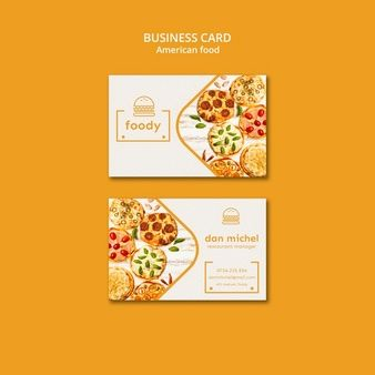 Download American Food Business Card Template For Free Restaurant Card Food Business Card Restaurant Business Cards
