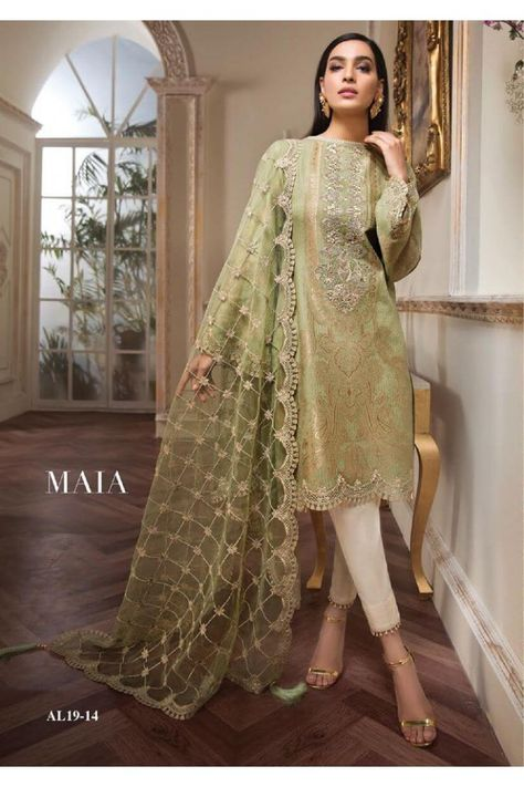 Anaya by Kiran Chaudhry Unstitched Lawn and Chiffon Suits 2019 Collection