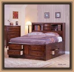 Camas De Madera Modernas Con Cajones 1 Bedroom Furniture Sets Platform Bedroom Sets Bed Frame With Drawers