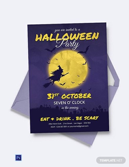 Full Moon Halloween Party Invitation Template Free Pdf Word Doc Psd Apple Mac Pages Google Docs Publisher Party Invite Template Halloween Party Invitation Template Halloween Party Invitations