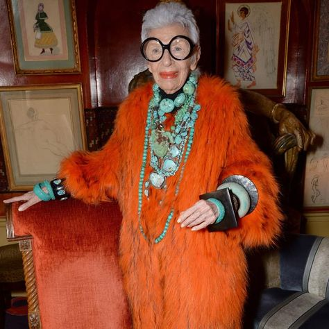 """Park Avenue's bird of paradise Iris Apfel landed in London this week for the U. premiere of the documentary """"Iris."""