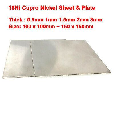 Ad Ebay Cupro Nickel Sheet Plate 18ni Various Sizes And 0 2mm 3mm Thicknesses 100x100mm Cupro Stainless Steel Sheet Nitrile Rubber