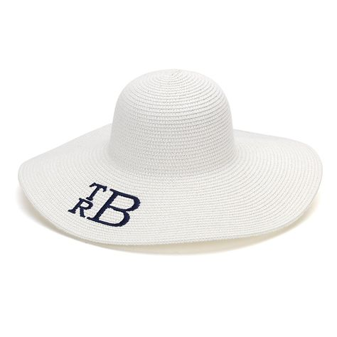0b42013f018fb Personalized Monogrammed Womens Floppy Hat Available Monogrammed    Embroidered   Personalized or Blank - Name Monogram or Initials Easter  Church Sun Derby ...