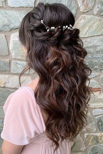 71 Perfect Half Up Half Down Wedding Hairstyles Long Dark Hair Hair Styles Formal Hairstyles For Long Hair