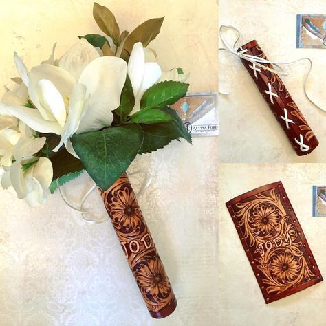 Make Your Own Leather Bouquet Holder For The Bride Perfect For A