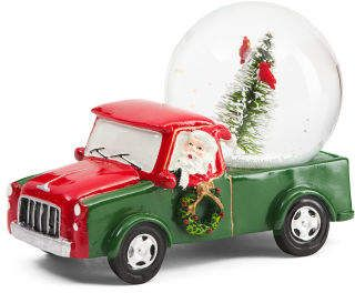 Santa In Truck Snow Globe Ad Happy Christmas Day Christmas Snow Globes Snow Globes