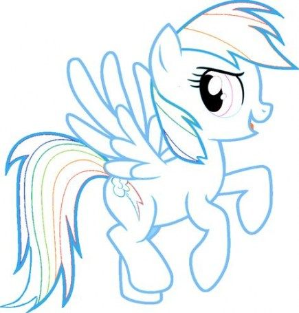 16 Trendy Ideas For Cake Rainbow Dash Fun My Little Pony Coloring Coloring Pages Rainbow Dash Birthday