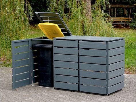 3er Mulltonnenbox Holz 240 Liter Mulltonnenbox Holz Mulltonnenbox Mulltonnenbox Selber Bauen