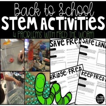 Back to School STEM Activities with Fred the Worm   STEM