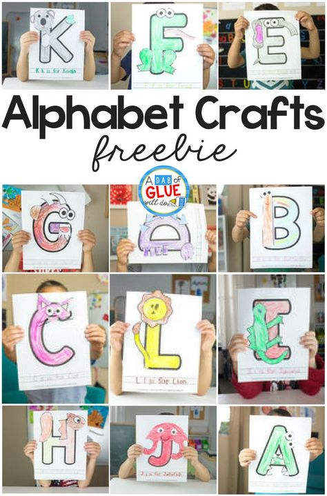 I'm thrilled to bring you our Animal Alphabet Letter Crafts series! This is a great set of letter crafts for your letter of the week or letter recognition activities. Animal Alphabet, Alphabet Letter Crafts, Abc Crafts, Animal Letters, Preschool Letters, Alphabet Book, Animal Crafts, Letter Tracing, Alphabet Games