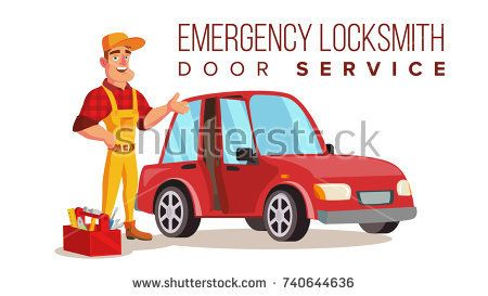 Car Locksmith Worker Service Vector Classic Serviceman Isolated On White Cartoon Character Illustrati Locksmith Services Mobile Locksmith Locksmith